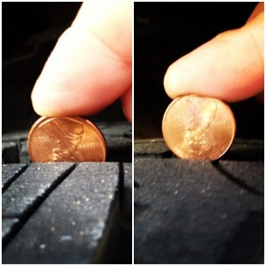 Check your tire tread with a penny to know when it's time for new tires from Kenny's Lakes Area Auto Experts
